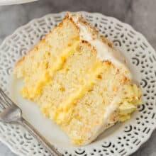 slice of pineapple coconut cake
