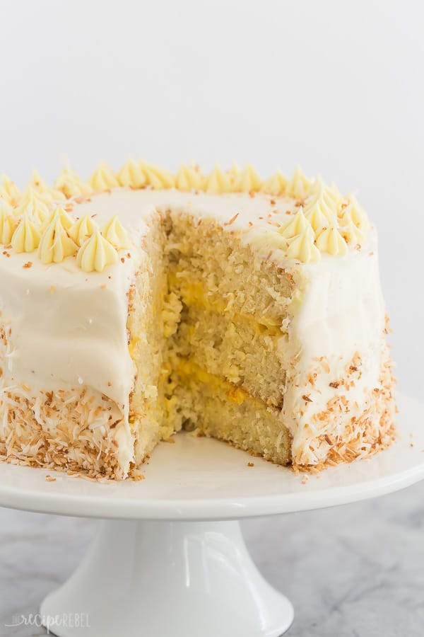 pineapple coconut cake whole