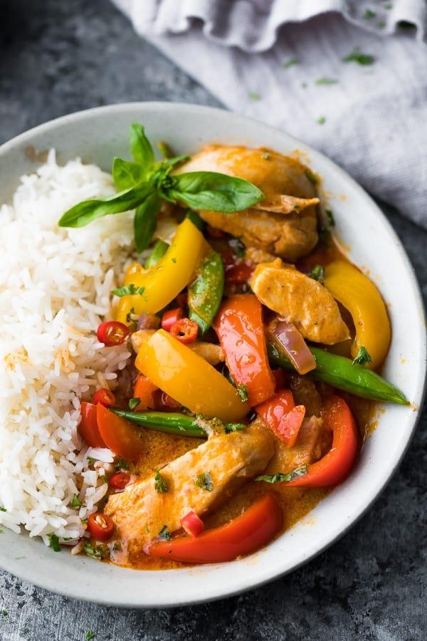 instant pot thai chicken curry