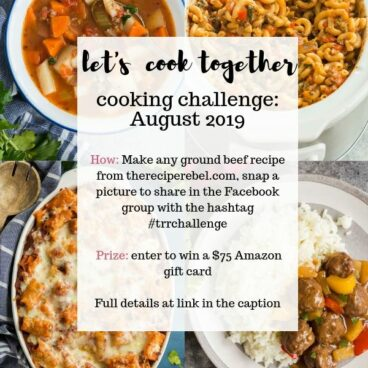 the recipe rebel cooking challenge august