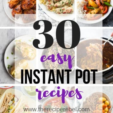 easy instant pot recipes collage