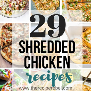 shredded chicken recipes collage
