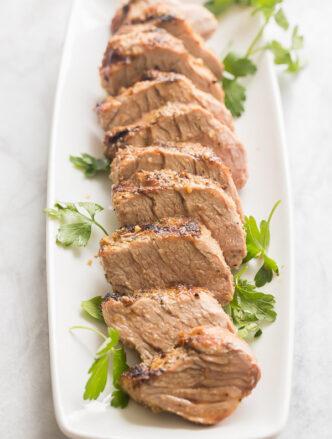 grilled pork tenderloin sliced