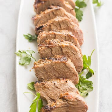grilled pork tenderloin sliced