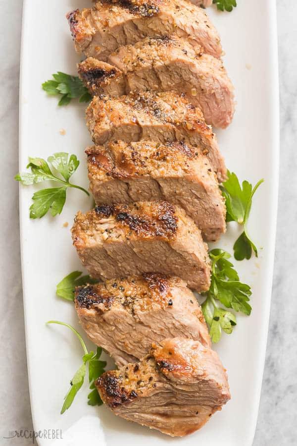grilled pork tenderloin overhead
