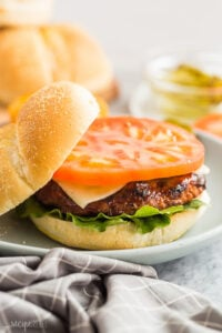 grilled turkey burgers on a bun