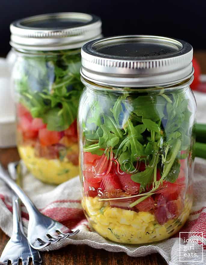 blt egg salad jars