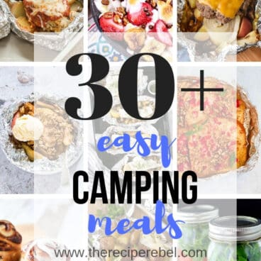 easy camping meals collage short
