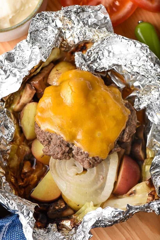 hobo hamburger foil packets