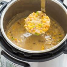 instant pot soup corn chowder