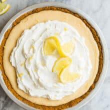 lemon icebox pie whole overhead