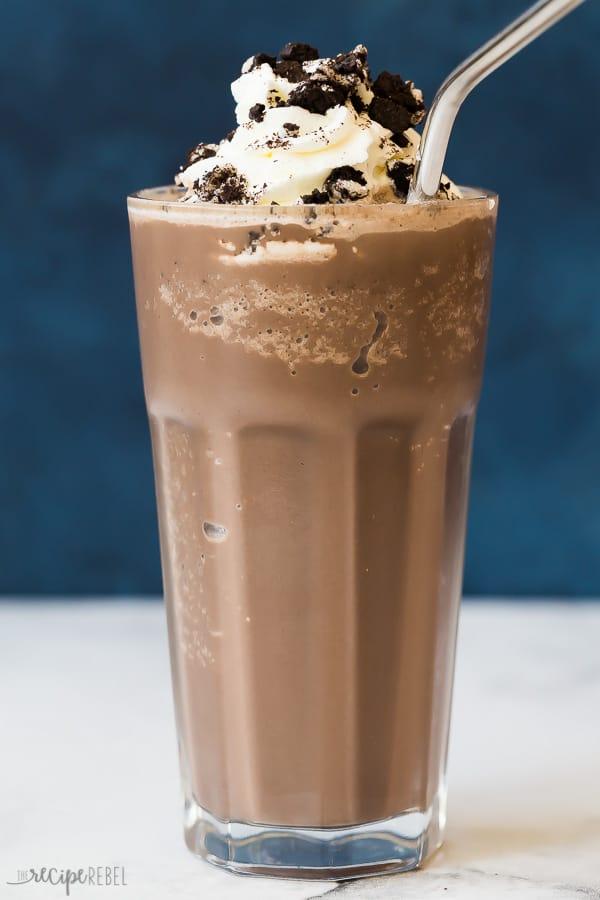 Oreo frozen hot chocolate