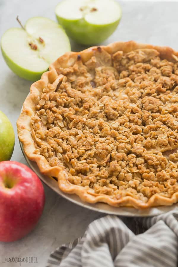 apple crumble pie whole