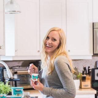 ashley with kefir yogurt