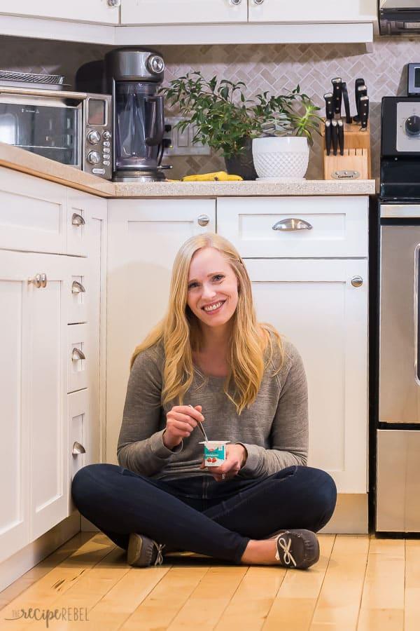 the recipe rebel with astro kefir yogurt in white kitchen