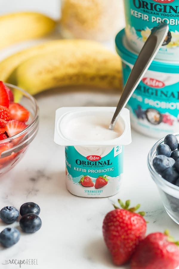 astro original kefir yogurt individual size strawberry flavor