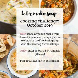 the recipe rebel cooking challenge october 2019