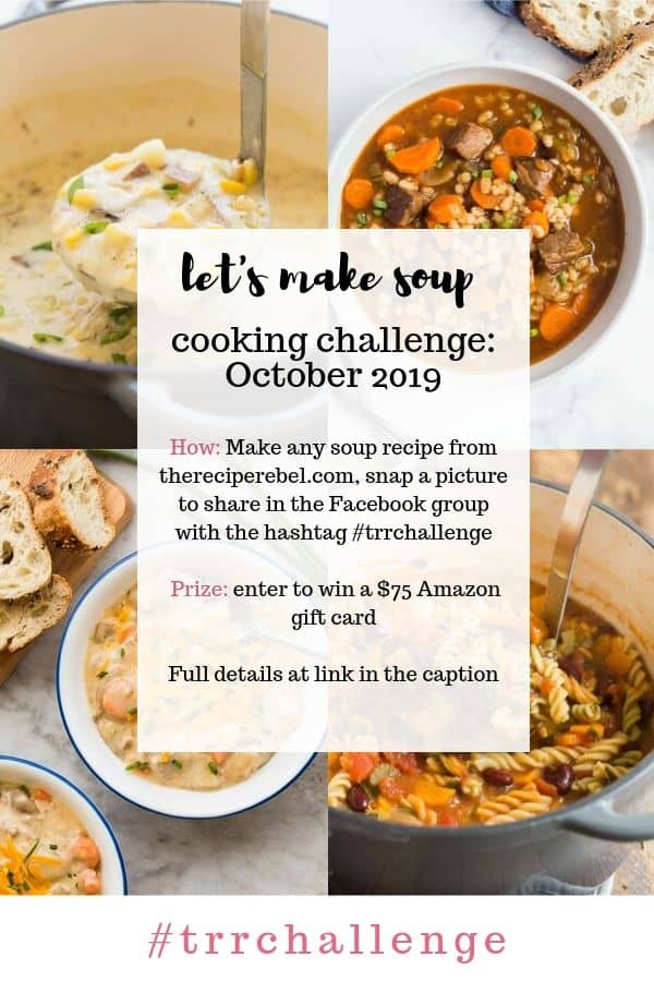 the recipe rebel cooking challenge october 2019