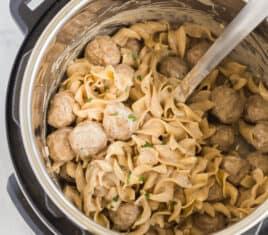 instant pot swedish meatballs in pressure cooker