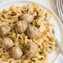 instant pot swedish meatballs and noodles