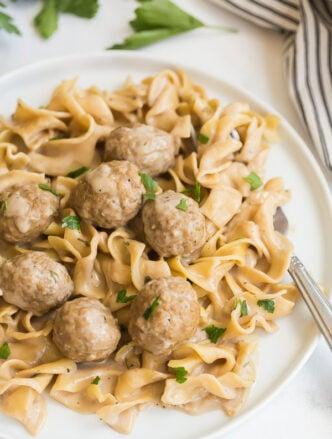 instant pot swedish meatballs and noodles