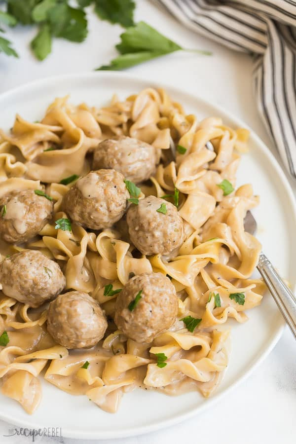 Instant Pot Swedish Meatballs And Noodles Video The Recipe Rebel