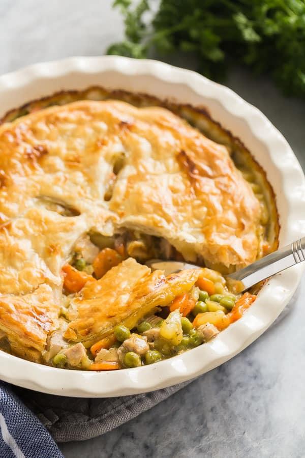 turkey pot pie scoop