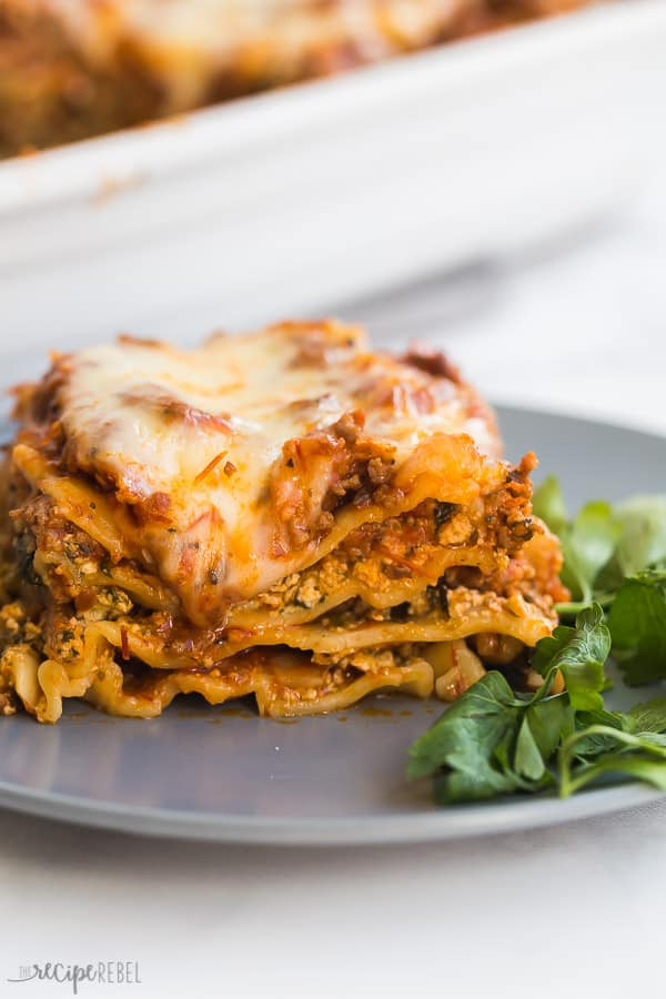 Easy Lasagna Recipe Step By Step Video The Recipe Rebel