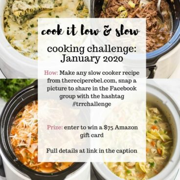 slow cooker cooking challenge January 2020