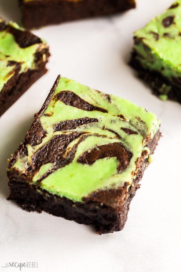 mint brownies piece