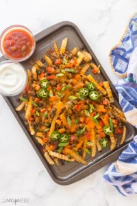 nacho fries overhead on pan