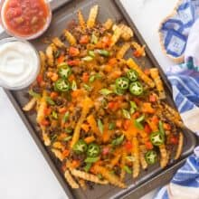nacho fries overhead on pan