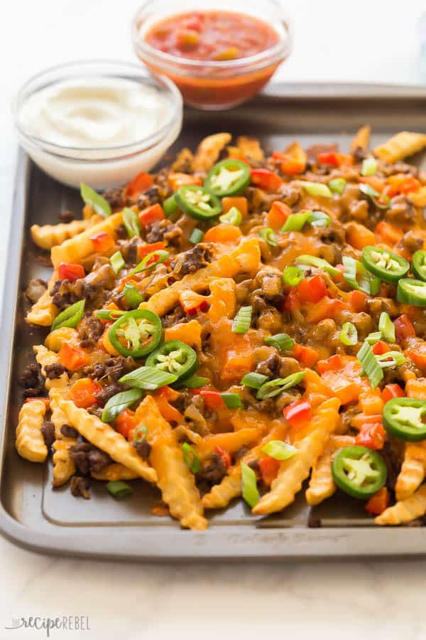 nacho fries close up