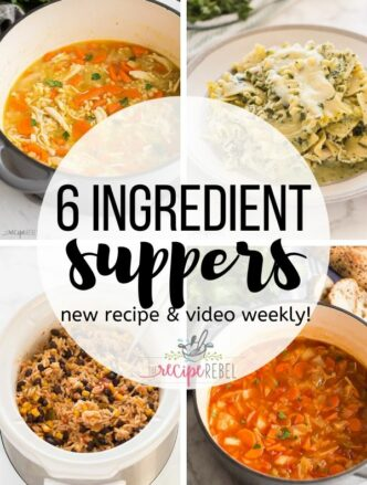 6 ingredient suppers collage image