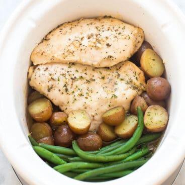 crockpot chicken and potatoes