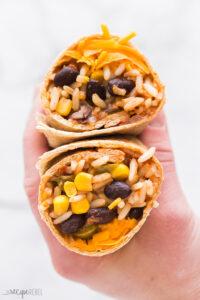 slow cooker vegetarian burrito wrapped
