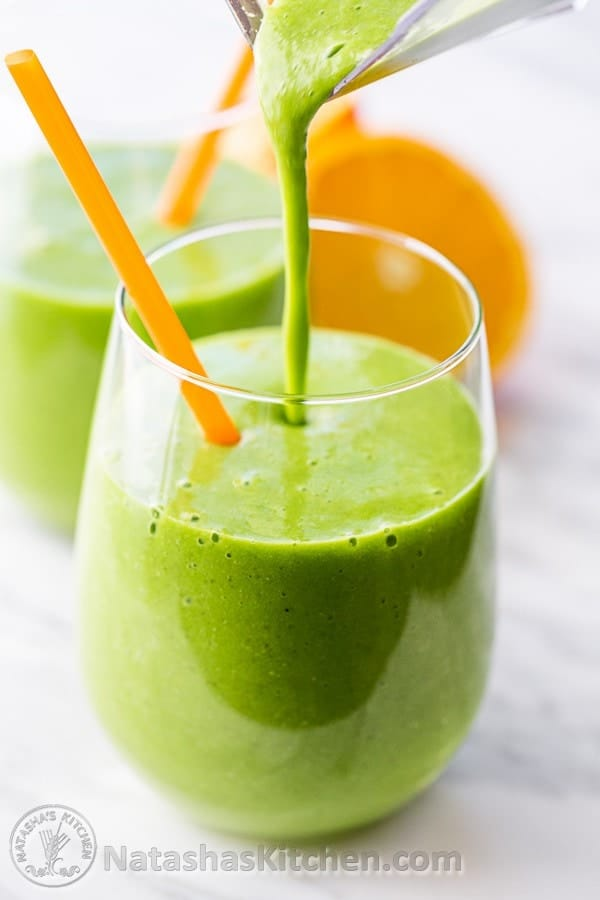 Natasha's Kitchen Green Smoothie Recipe