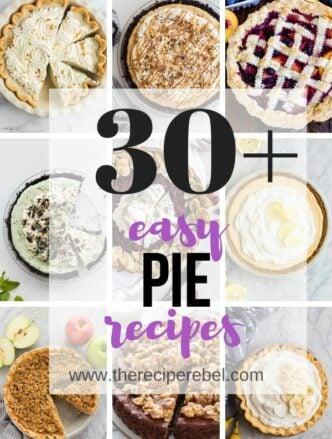 pie recipes collage