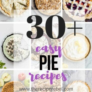 pie recipes collage