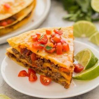 taco casserole slice