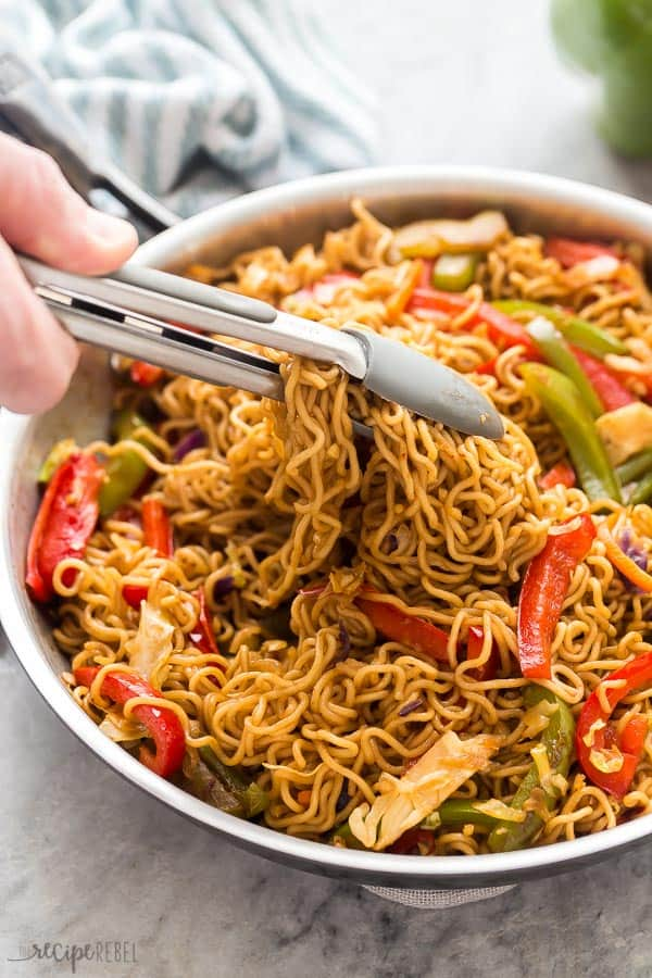vegetable lo mein scoop