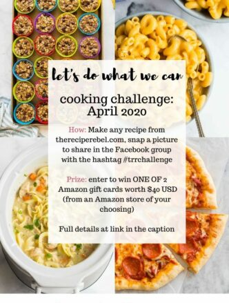 april 2020 the recipe rebel cooking challenge
