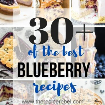 blueberry recipes collage