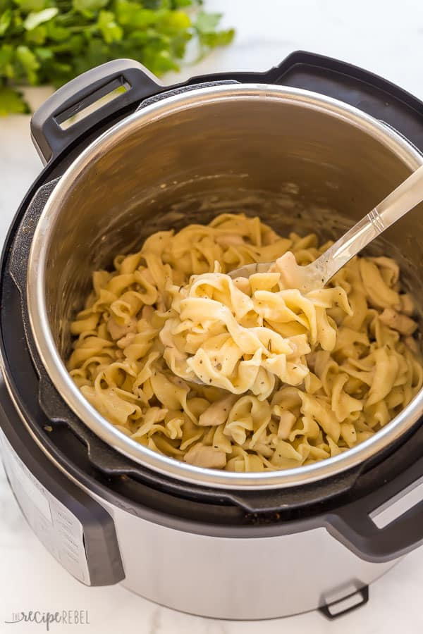 instant pot chicken and noodles in pressure cooker