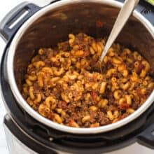 instant pot goulash in pressure cooker