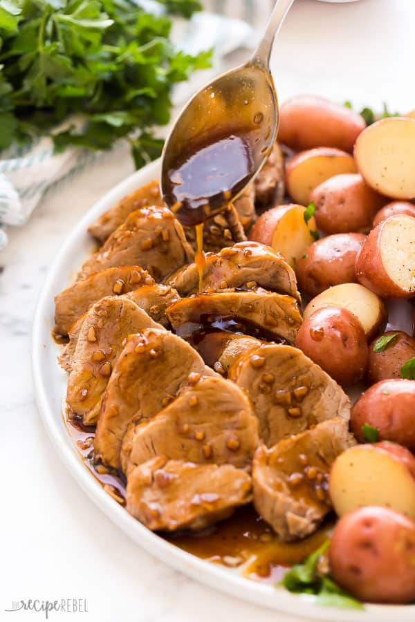 instant pot pork tenderloin with sauce