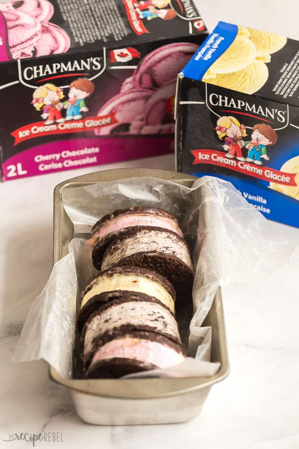 ice cream sandwiches with chapmans