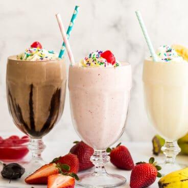 how to make a milkshake 3 ways