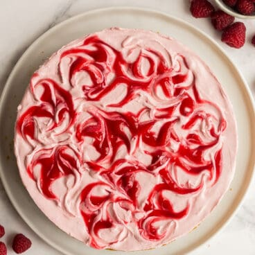 no bake raspberry cheesecake whole