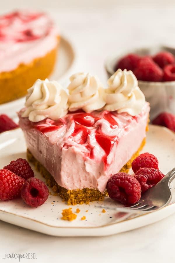 no bake raspberry cheesecake with bite